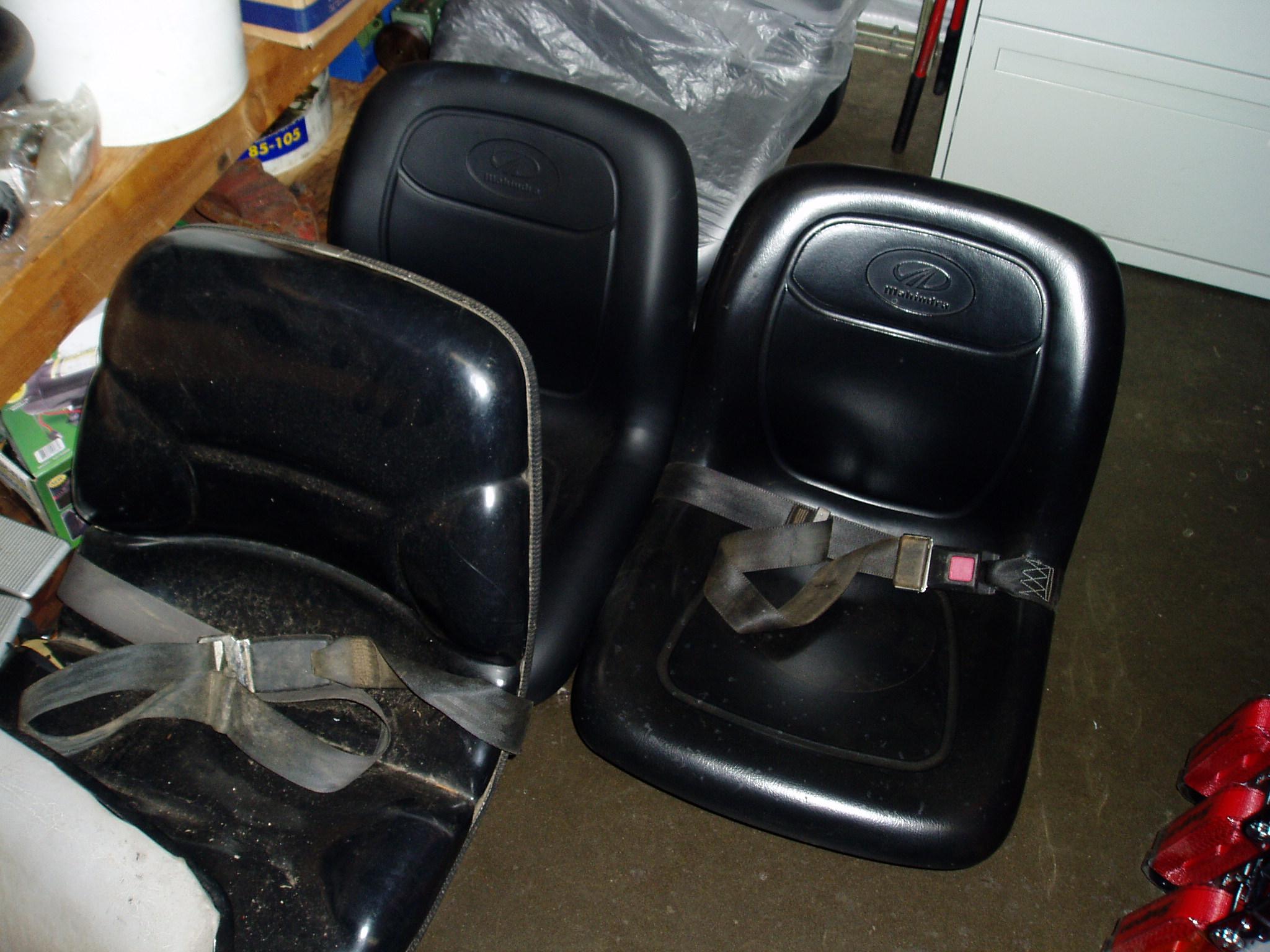 Used Backhoe Seats : Used equipment